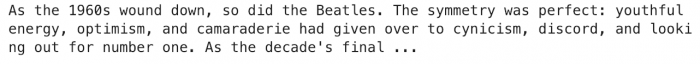 Beatles text snippet